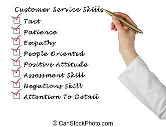 klant, vaardigheden, dienst