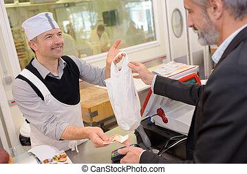 klant, vlees, aankoop