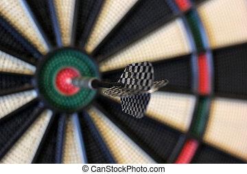 klappen, pijl, dartboard, doel, centrum