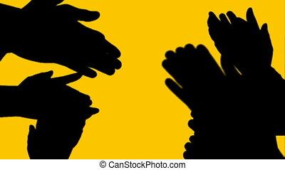 klappende handen, animatie