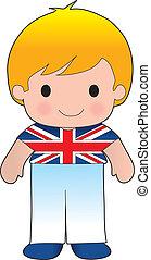 klaproos, brits, jongen