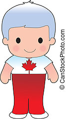 klaproos, canadees, jongen