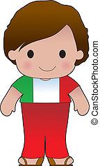 klaproos, italiaanse , jongen
