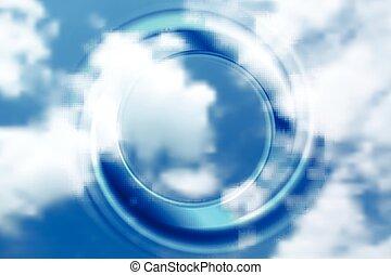 klar, abstrakt, cirkel, baggrund
