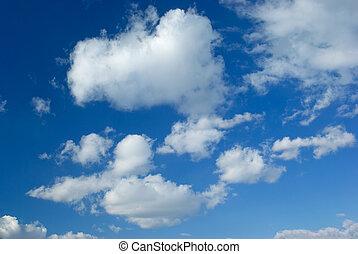 klar, blauer himmel, panorama