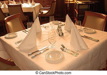klar, bord, kunder, restaurang
