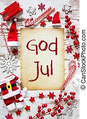klar, jul, lejlighed, lægge, gud, jul, betyder, glædelig jul