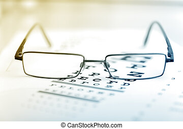 klar, schwarz, modern, gläser, a, beäugen sehvermögen,...