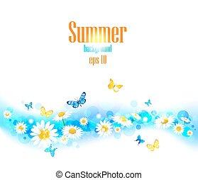 klar, sommer, baggrund