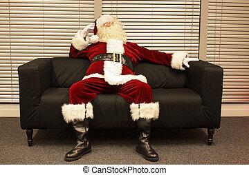 klar, väntan, claus, jul, jultomten