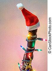 klarnet, kapelusz, boże narodzenie, święty
