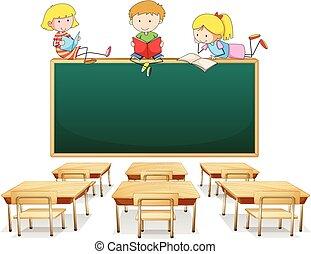 klasa, dzieciaki, trzy