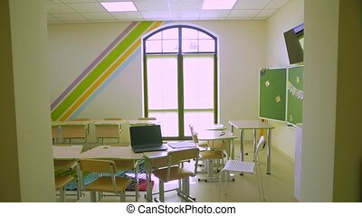 klasa, kwarantanna, szkoła, opróżniać