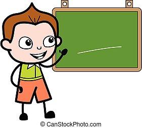 klasa, rysunek, deska, uczeń