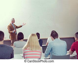 klasa, studenci, grupa, nauczyciel