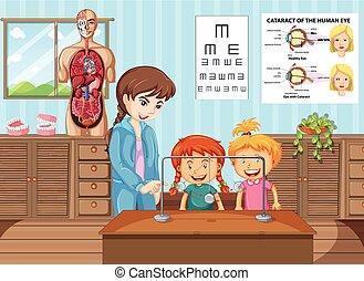 klasa, studenci, nauczyciel, nauka, nauka