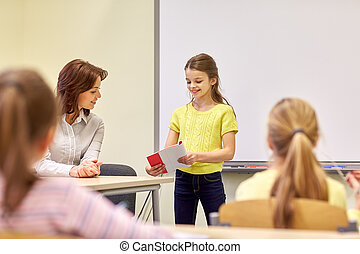 klasa, sztubacy, grupa, nauczyciel