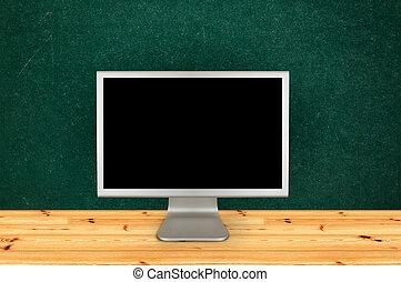 klaslokaal, computermonitor