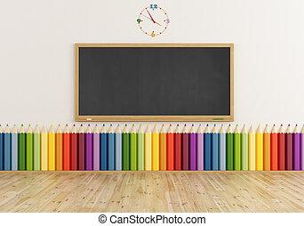 klaslokaal, kleurrijke