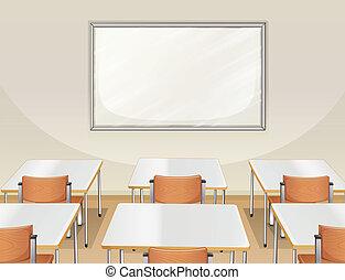 klaslokaal, lege