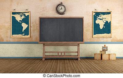 klaslokaal, ouderwetse