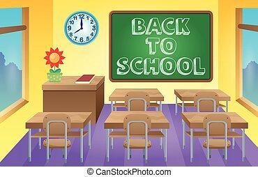 klaslokaal, thema, beeld, 3