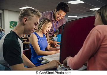 klassenzimmer, computerarbeit