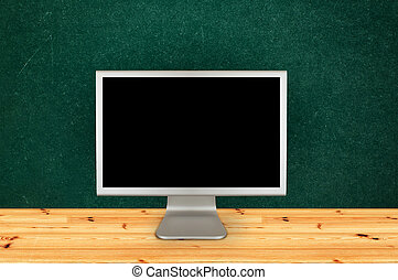 klassenzimmer, computermonitor