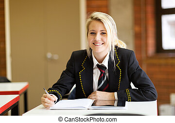 klassenzimmer, high school kursteilnehmer, hübsch