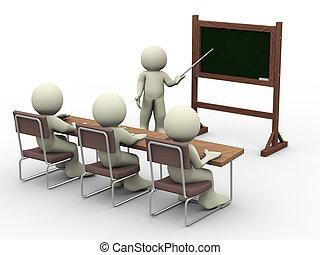 klassenzimmer, lektion