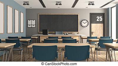 klassenzimmer, modern, leerer