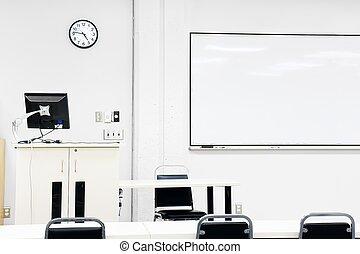 klassenzimmer, steril, modern