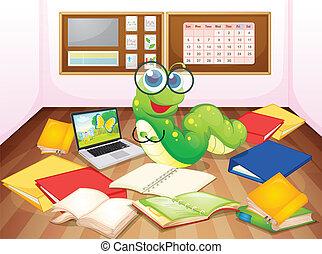 klassenzimmer, wurm