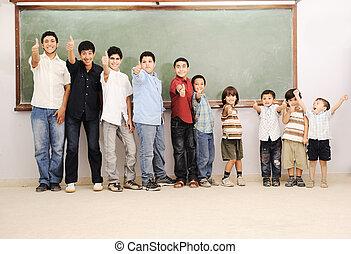 klasseværelse, skoleelever