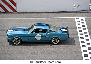 klassieke auto, hardloop