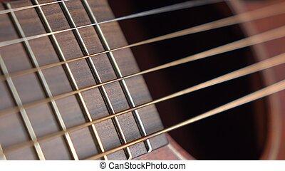 klassisch, gitarre, zubehörteil, 4k, makro, kugel