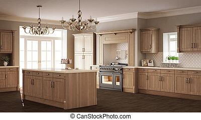 klassisch, hölzern, kueche , elegant, design, details, inneneinrichtung