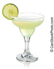 klassisch, margarita, cocktail, mit, limette