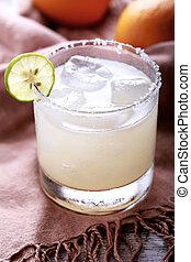 klassisch, mexikanisch, margarita, cocktail