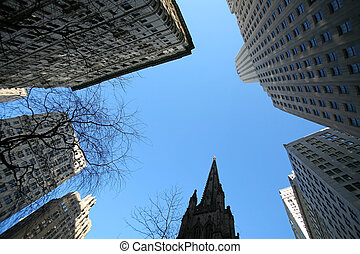 klassisch, new york, -, wolkenkratzer, in, manhattan