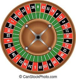 klassisch, spiel, von, roulette rad