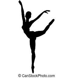 klassisch, tänzer