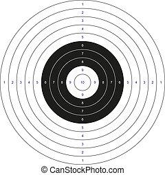klassisch, ziel, bullseye
