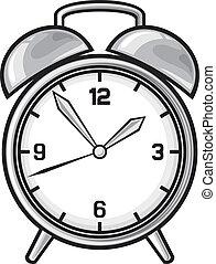 klassisk, alarm ur