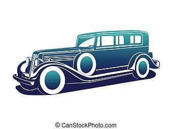 klassisk, bil