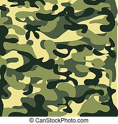 klassisk, seamless, militär, kamouflage, mönster