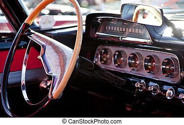 klassisk sport, vogn interior