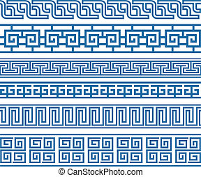 klasszikus, dekoratív határ, elem