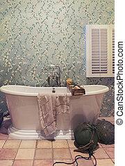 klasszikus, fürdőszoba, alatt, ország, mód