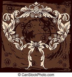 klasszikus, floral dekoráció